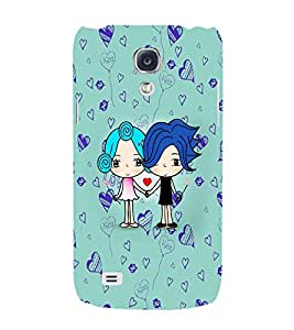 PrintVisa Cute Cartoon Couple 3D Hard Polycarbonate Designer Back Case Cover for Samsung Galaxy S4
