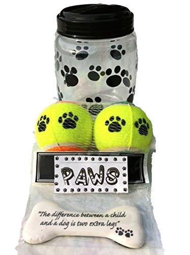 one dog treat jar or pet food storage container bpa free. Black Bedroom Furniture Sets. Home Design Ideas