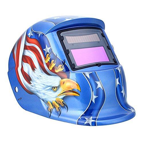 US Shipping Solar Auto Darkening Welding Mask Welder Helmet Soldar Tig Welder Mask Tig Welding Filter Solar Mask mascara soldar (Blue Eagle)