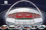 Wembley Stadium London Football Large Sport Poster 61 by 91.5cm