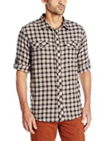 Craghoppers Camisa Hombre Wanderhemd Kiwi Check Langarm (Beige)
