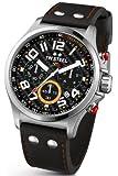 TW Steel Herren-Armbanduhr XL Pilot Sonder Edition Chronograph Quarz Leder TW-433