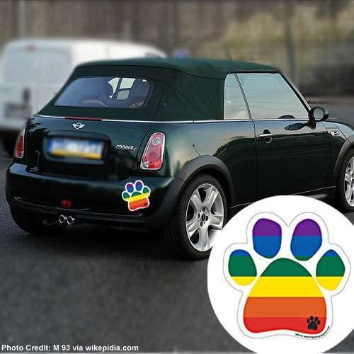 Show your true colors rainbow paw durable car truck for Car mailboxes for sale