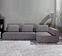 Hot Sale EXCLUSIVE MODERN FURNITURE EDITION #16: Bennetti Modern Sectional Sofa Romano