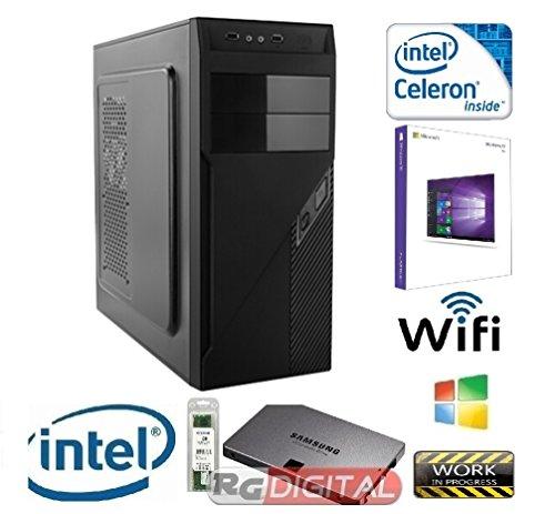 RGDIGITAL WORK IN PROGRESS DUAL8G WIN10 - PC DESKTOP INTEL DUAL CORE 2,6 GHZ CASE ALANTIK RAM 8GB RAM HD 1TB HDMI DVI VGA DVD-RW 500W WIFI INCLUSO SISTEMA OPERATIVO WINDOWS 10 PROFESSIONAL 64BIT ORIGINALE CON ETICHETTA SERIALE PC FISSO INTEL DUAL CORE 2,6 GHZ COMPLETO ASSEMBLATO PRONTO ALL'USO DVI/VGA/HDMI USB VELOCE COMPLETO ED ELEGANTE PER USO UFFICIO CASA AZIENDA INTERNET SOCIAL NETWORK