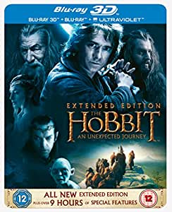 The Hobbit: An Unexpected Journey - Limited Extended Edition Steelbook [Blu-ray 3D + Blu-ray] [2012] [Region Free]
