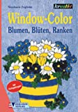 Window-Color-Vorlage: Window-Color, Blumen, Blüten, Ranken