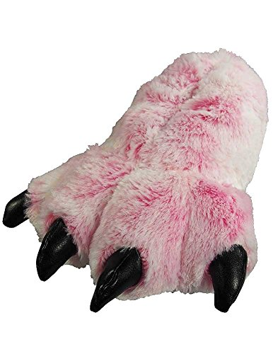 Wishpets Bear Paw Slippers (Pink, Small)