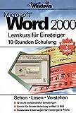 echange, troc Bert Hartmann - Word 2000. Lernkurs für Einsteiger.