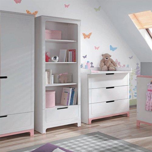Bücherregal Regal MINI, 4 Fächer + Schublade, weiß, 184cm bestellen