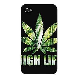 Jugaaduu Weed Marijuana Back Cover Case For Apple iPhone 4