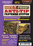 Safe-T-Proof Anti-Tip Fastening System Furniture Fastener, Brown