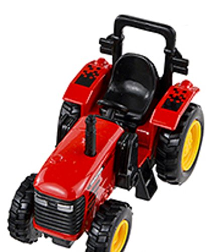 Pull Back and Go - 4 Inch Power Tractor - (Red) - 1