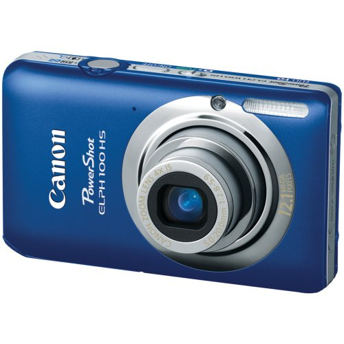 Cyber Monday Canon PowerShot ELPH 100 HS 12.1 MP CMOS Digital Camera with 4X Optical Zoom (Blue) Deals