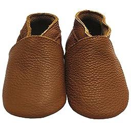 Mejale Baby Soft Soled Leather Moccasins Anti-slip Infant Toddler Shoes Pre-walker