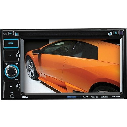 "Brand New Boss Audio Systems - Boss Bv9364B Car Dvd Player - 6.2"" Touchscreen Lcd - Double Din - Dvd Video, Video Cd, Mp4, Avi - Am, Fm - Secure Digital (Sd), Multimediacard (Mmc) - Bluetooth - Auxiliary Input - 2 X Usb - 800 X 480 - Ipod/Iphone Compatibl"