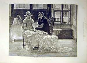 Stampa 1891 della Sposa dell'Abito di Richards del Vestito da Sposa Vecchia