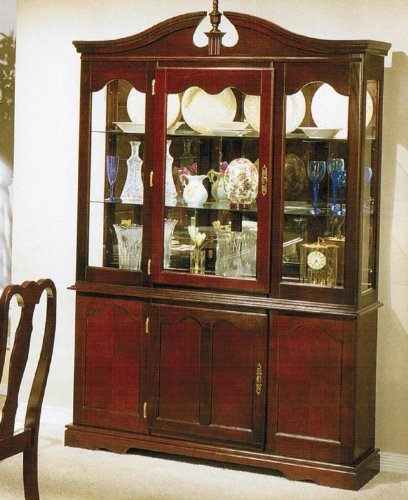 Cheap China Cabinet Buffet Hutch – Queen Anne Cherry Finish (VF_F6052)