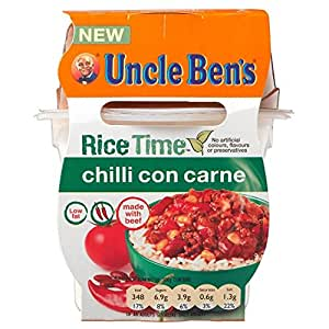 Uncle ben 39 s rice time chilli con carne 300g for Adding chocolate to chilli con carne