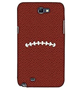 PrintHaat Designer Back Case Cover for Samsung Galaxy Note 2 :: Samsung Galaxy Note Ii N7100 (football lover :: soccer player :: football in the ground :: football in the net :: football illusion :: in blue, black, green, white and brown)