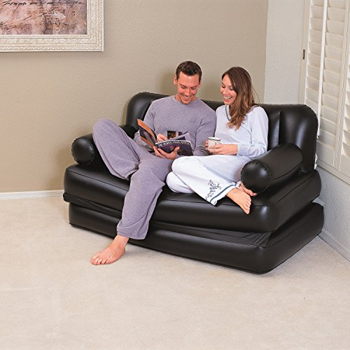 Bestway multi functional couch black with air pump for Best way furniture store