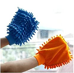 Wyane Enterprises Pack of 2 Microfiber Dusting Cleaning Glove for Home Office...