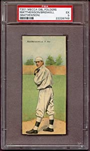 Buy 1911 T201 Mecca Double Folder Christy Mathewson Giants PSA 5 EX 234431 Kit Young Cards by T201 Mecca