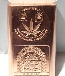 One Pound Legalized It-end Prohibition .999 Copper Bullion Art Bar