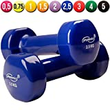 Physionics� HSTA25 Vinyl Dumbbells COLOUR CHOICE AND CHOICE OF WEIGHT (blue)by Physionics�