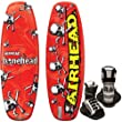 AIRHEAD AHW-1015 Bonehead II Wakeboard with Grab Youth Bindings