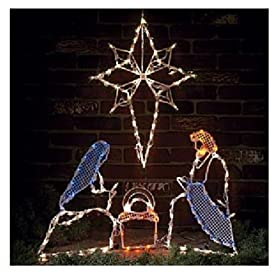 Outdoor Lighted Nativity Scene Decoration http://www.awesomeoutdoorlight.com/outdoor-lighted-nativity-scene-decoration/