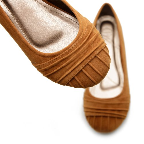 Cheap Ollio Women's Faux Suede Ballet Low Heels Flat Loafers Comfort Multi-Color Shoes (B006BHRU2W)