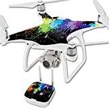 MightySkins Protective Vinyl Skin Decal for DJI Phantom 4 Quadcopter Drone wrap cover sticker skins Splatter