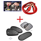 Kozdiko Combo Of 500 Amp Heavy Duty Jumper Booster Cables 7.5Feet, Car Auto Window Side Chipkoo Sunshade Curtains... - B016WT0DOU