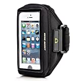 Gear Beast Case Compatible Sports Armband for Otterbox Commuter & Defender Cases for Apple iPhone 5 / 5s / 5c & iPhone 4 / 4s & iPod Touch 5g & Samsung S5 MINI / S4 MINI / S3 MINI & Moto X / Moto G (2013) & More (Black)