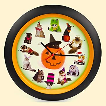 Spooky Cat Sounds Clock