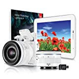 Picture Of Samsung NX1100 Compact Camera and Samsung Galaxy Tab 2 7.0 Tablet bundle with 20-50mm Lens and Camera Strap