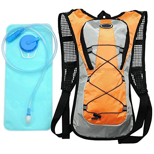 KLAREN 2L Hiking Backpack Hydration Pack with Water Bladder Cycling Climbing Camping Bag Orange