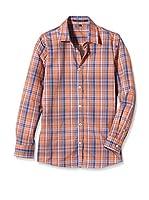 Silvian Heach Camisa Niña Vorsny (Naranja / Azul)