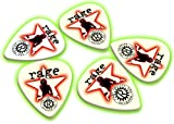 Rage Against Machine 5 X Glow in the Dark Guitar Picks Band Plectrums