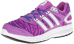adidas Performance Duramo 6 K Running Shoe (Little Kid/Big Kid), Flash Pink/White/Night Flash, 11.5 M US Little Kid