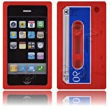 Cassette Retro Tape Cover for iPhone 3G 3GS Gel Silicone Stylish Case Skin Red from gadget Zoo