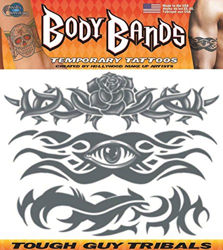[Tough Guy Tribal Band Temporary Tattoo] (Manly Halloween Costumes)