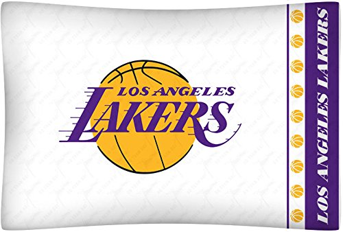 NEW Los Angeles LA LAKERS Standard Knit Pillowcase (Lakers Cheerleading Outfit)