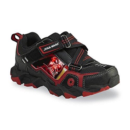 STAR WARS bambini scarpe da ginnastica Blink luce scarpe ragazzo Darth Vader Nero Rosso (EU 32,5= US 1)