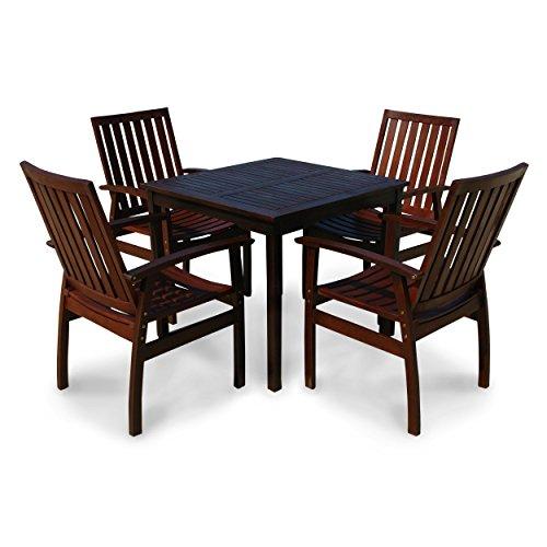 indoba ind 70080 prse5q serie provence gartenm bel set 5 teilig aus holz fsc zertifiziert. Black Bedroom Furniture Sets. Home Design Ideas