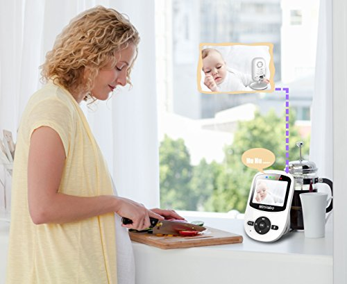 video baby monitor minilabo wireless baby camera monitors screen wit. Black Bedroom Furniture Sets. Home Design Ideas