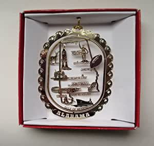 Alabama Christmas ORNAMENT State Souvenir Gift Mobile ...