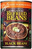 Amy's Light in Sodium Organic Refried Black Beans, 15.4 Ounce Cans (Pack of 6)