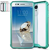 LG Aristo Case,LG Phoenix 3 Case,LG Fortune,LG Rebel 2 LTE / Risio 2 Clear Case w/ HD Screen Protector,NiuBox Armor Ultimate Crystal PC Cover TPU Bumper Protective Phone Case for LG K8 2017 Turquoise